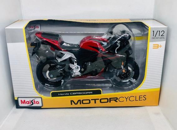 Modelo de motocicleta 1:18 Honda CBR 1000 RR negro//blanco maisto sin la placa base