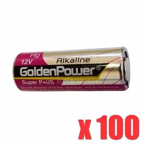 100 Peças Pilha Alcalina Golden Power 23a 12v Controle Longa