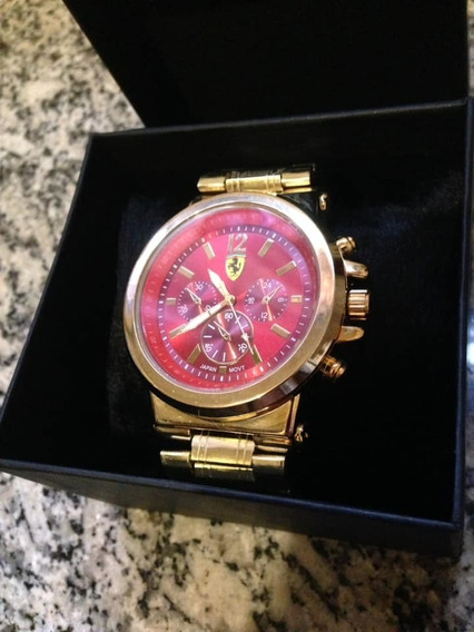 Relógio Masculino Luxuoso Ferrari Com Caixa