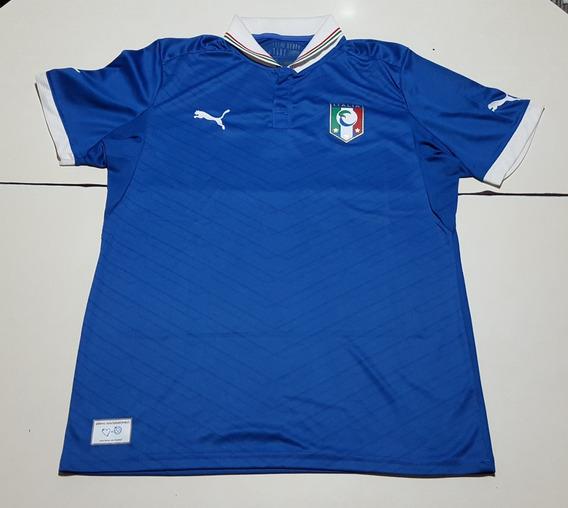 Camiseta De Italia Homenaje Mundial 82 Marca Puma, Talle L