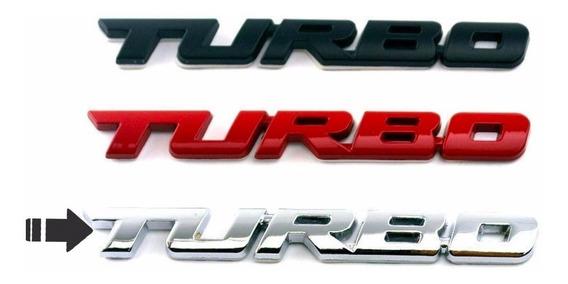 Emblema Turbo Traseiro Porta Malas