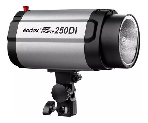 Flash De Estúdio Tocha Mini Pioneer Godox 250di - 250w 220v