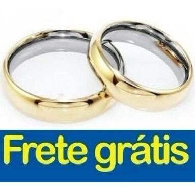 Par De Alianças Encapada De Ouro 18k 3mm Casamento Noivado