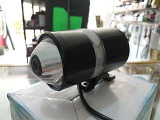 Bocina Bluetooth Para Moto Micro Sd Lupa Con Luz Led Estrobo