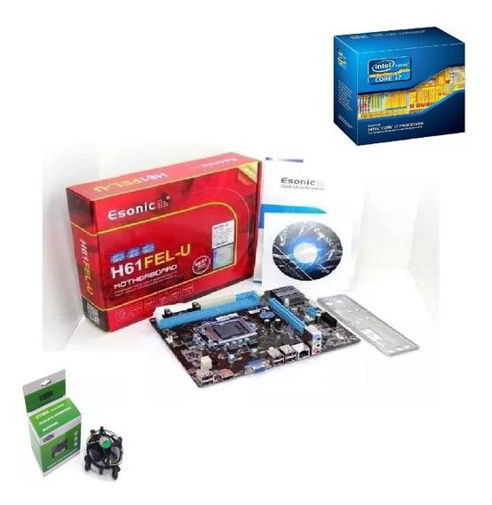 Kit Intel Core I7 2600 3.4 Ghz + Placa H61 + 8 Gb Ddr3