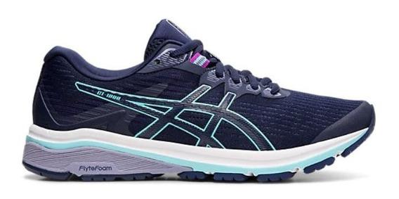 Zapatillas Asics Gt 1000 8 Mujer Running Azul