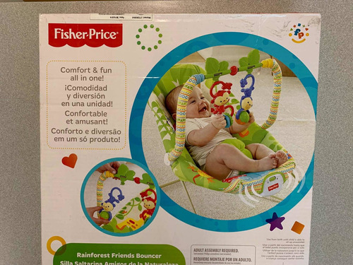 Silla Mecedora Fisher Price Rainforest C/vibrador Como Nueva