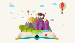 Painel De Festa Livro Conto De Fadas-180x120cm