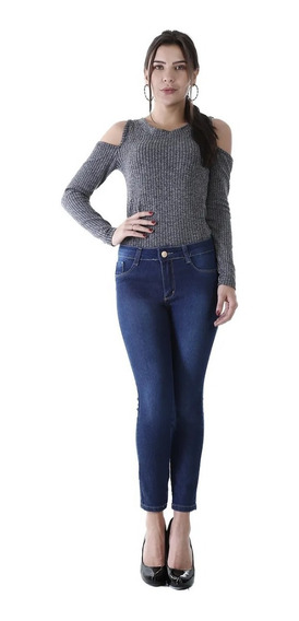 Calça Jeans Feminina Cropped Levanta Bumbum Sawary