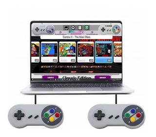 800 Juegos De Snesx En Usb + 2 Controles Snes Pc/laptop