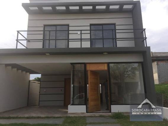 Sobrado Com 3 Dormitórios À Venda, 145 M² Por R$ 550.000 - Condomínio Terras De São Francisco - Sorocaba/sp. - So0129