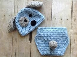 Conjunto Newborn Fantasía Cachorro Crochê Bebê Assesorios