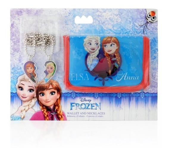 Frozen Disney Billetera Y Collares De Amistad Anna Elsa