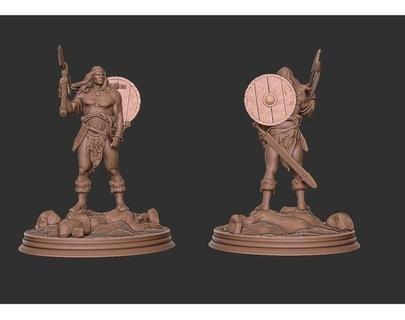 Archivos Stl De Impresión 3d - Conan Estatua