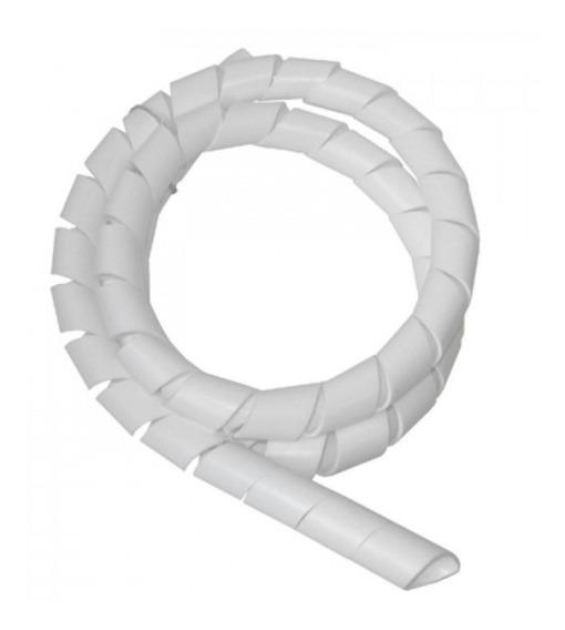 Organizador De Fios E Cabos Espiral 1/2 Cor Branco 10mts