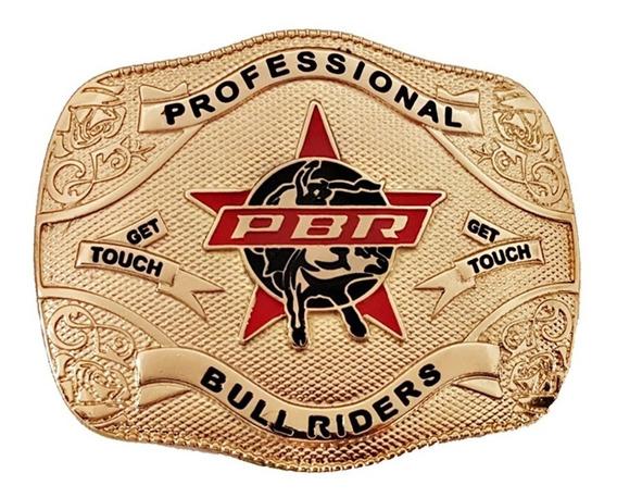 Fivela Country Cowboy Pbr Dourada Promoção De Lançamento