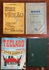 Música / Aprendizado / Violão / Teclado - Lote Com 04 Livros