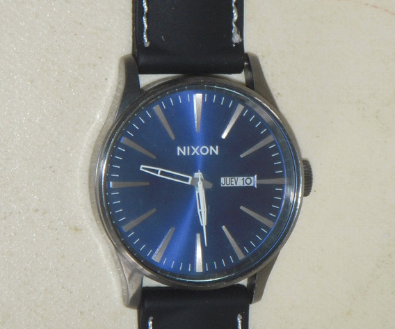 Relógio Original Nixon The Sentry Leather Wacth