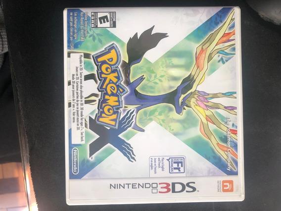 Game 3ds 2ds Pokemon X Original Completo Mídia Física