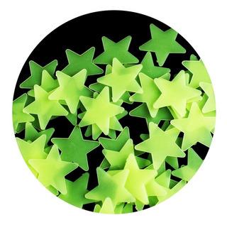 Paquete 100 Estrellas Fosforecentes Fluorescentes Niños Bebe