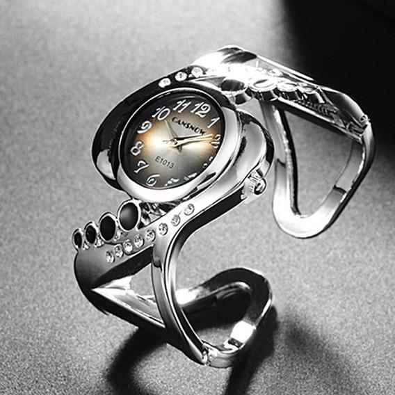 Relógio Luxo Feminino Bracelete Pulseira Elegante Preto