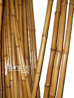 10 Varas De Bambú Natural Olhami 150 Cm Largo / 5 Cm Grosor