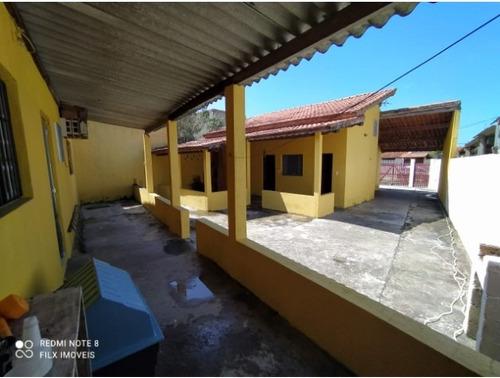 Imagem 1 de 14 de Casa Lado Praia Com Quintal E Edícula Em Itanhaém Litoral Sp