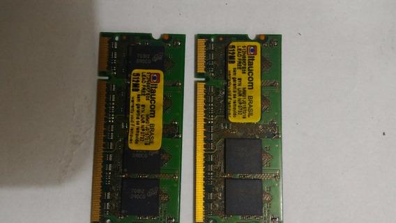 2 Pentes Memoria Dd2 Itaucom 512mb Pc5300