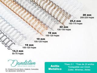 Anillo Metálico Doble Para Agendas/cuadernos Personalizados