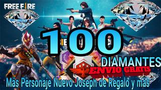 100 Diamantes Free Fire Y Premios Mas Personaje Joseph