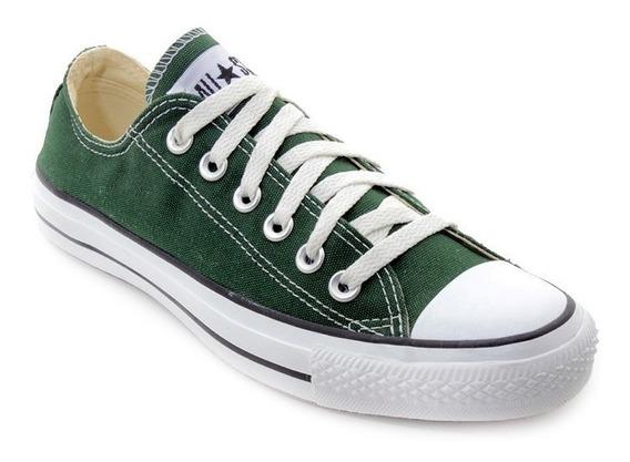Zapatillas Converse Lona Bajas Verdes Ox 164744c