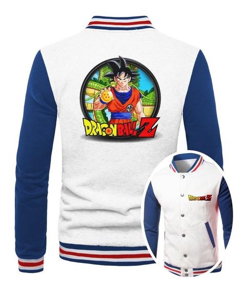 Jaqueta College Masculina Dragon Ball Z Goku Casaco Moletom