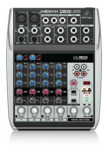 Mesa De Som Behringer Xenyx Q802usb Mixer + Nota Fiscal
