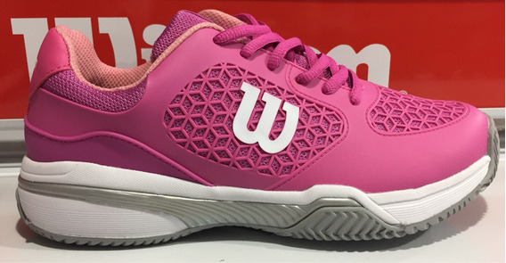 Zapatillas Mujer Wilson Tenis Padel Match Rosa!!