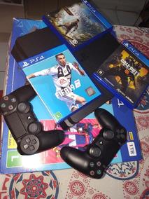 Playstation 4 Slim 1tb 2 Controles6 Jogos Sendo 3 Na Memóri