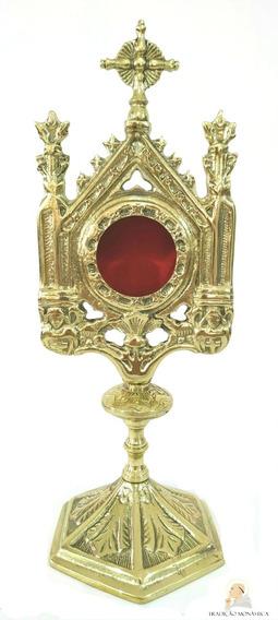 Relicário Católico Dourado Tradicional - Relíquia - 32cm