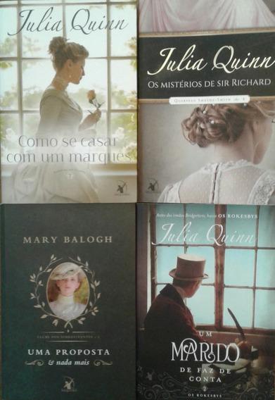 Kit Livros De Julia Quinn E Mary Balogh - 4 Volumes