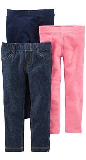 Simple Joys By Carters Girls 3pack Leggings
