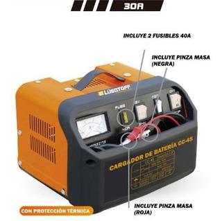 Cargador De Bateria Portatil 12-24v 30a Lusqtoff Lcc-45