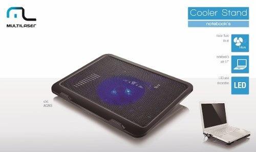 Base Para Notebook Cooler Slim C/led 17 Pol Ac263 Multilaser