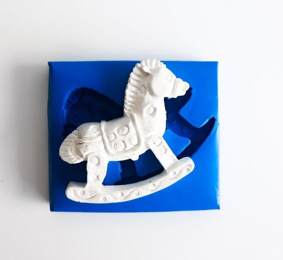 Molde De Silicone Cavalo De Brinquedo Para Biscuit