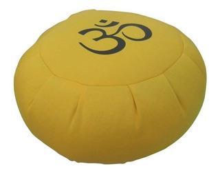Zafú Meditación Con Om: 21 X 34 Cm. Relleno Premium: Algodón Con Núcleo De Vellón Comprimido. Funda Lavable