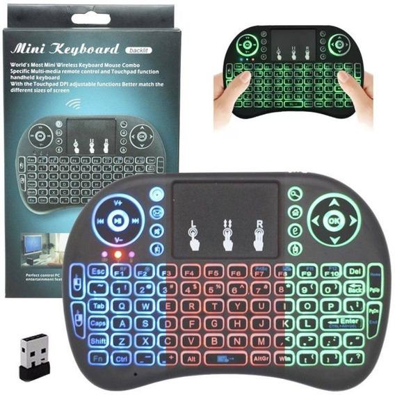 Mini Teclado Wireless Sem Fio Led Pc Smart Tv Box Ps4 Xbox