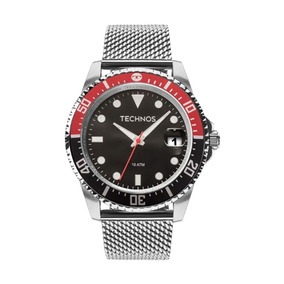 Relógio Masculino Technos Skymaster Prata