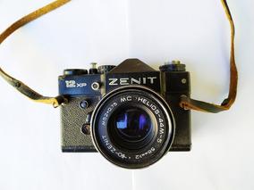 Máquina Fotográfica Zenit 12xp Com Lente E Bolsa - No Estado