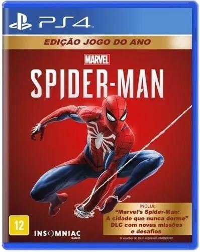 Jogo Marvel Spiderman Edição Jogo Do Ano Ps4 Pronta Entrega!
