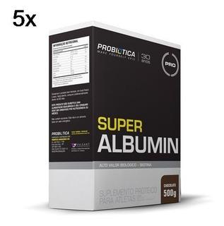 Kit 5x Super Albumin - 500g Chocolate - Probiótica