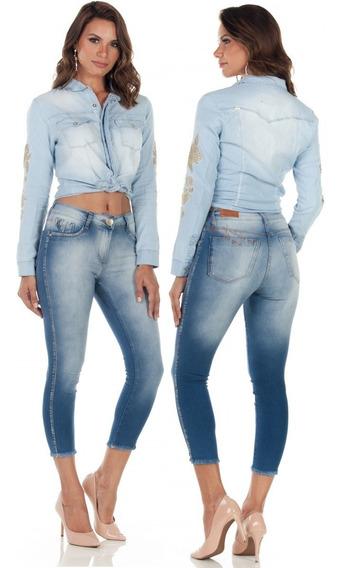 Emporio Calça Cropped Cos Medio Ep9108 *promoção*