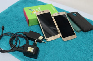 Dois Smartphones Motorola Moto G5s Xt1792 Ouro Com 32gb