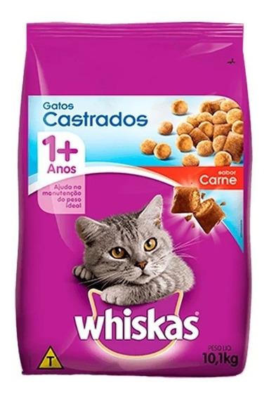 Whiskas Castrados Carne 10,1kg
